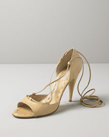 Michael Kors Leather Ankle Wrap Pump
