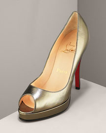 Metallic Peep Toe Pump by Christian Louboutin   Manolo Likes!  CLICK!