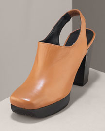 Robert Clergerie Leather Platform Slingback