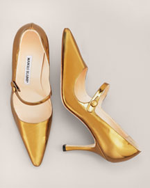 Manolo Blahnik Patent Mary Jane Pump -  Fall Collection -  Neiman Marcus