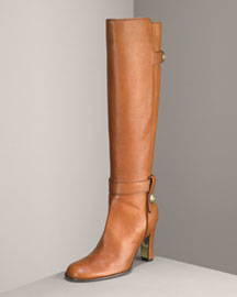 Juicy Couture            Tall Distressed Calfskin Boot-  Neiman Marcus