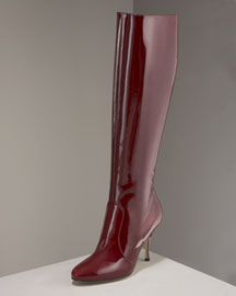 Brian Atwood Patent Knee Boot