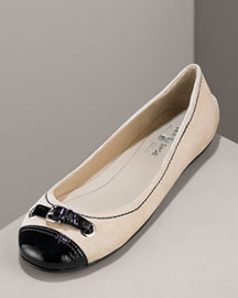 Car Shoe Suede Ballerina Flat