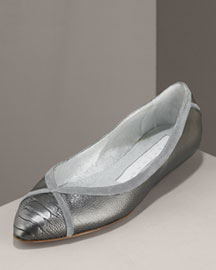 Carmen Ho Ostrich Ballerina Flat