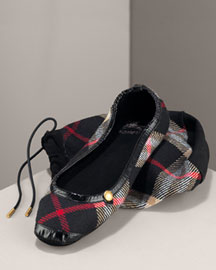 Burberry Cashmere Slipper & Storage Bag