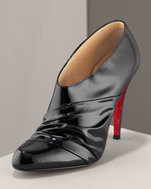 Christian Louboutin Ankle Bootie -  Christian Louboutin -  Neiman Marcus :  booties black leather christian louboutin