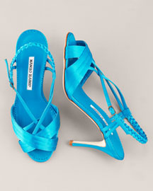 Yambamod Strappy Sandal by Manolo Blahnik    Manolo Adores!  Click!