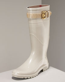 Burberry Studded Buckle Rainboot -  Shoe Collection -  Neiman Marcus