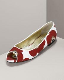 D&G Dolce & Gabbana Norma Floral-Print Flat