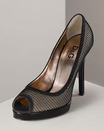 D&G Dolce & Gabbana Giselle Peep Toe Pump