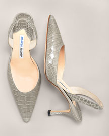 Manolo Blahnik Croc Slingback -  Bright Colors -  Neiman Marcus :  apparel chloe season summer