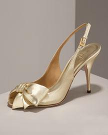 Valentino Mena Polka-Dot Slingback- Premier Designer- Neiman Marcus :  arrivals dior shoes yves saint laurent