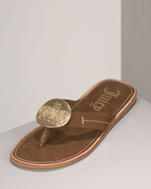 Juicy Couture Lilah Leather Thong Sandal
