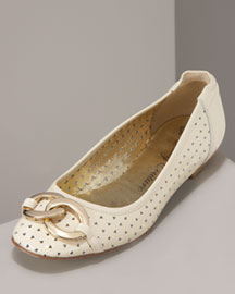 Juicy Couture Evie Perforated Patent Flat