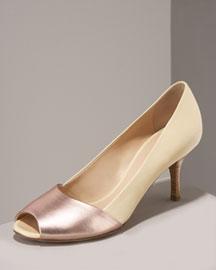 Giuseppe Zanotti Peep-Toe Pump- Shoes- Neiman Marcus :  designer clothes retro heels dior