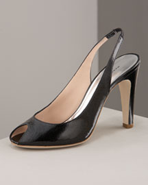 MARC by Marc Jacobs Glitter Patent Slingback
