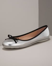 MARC by Marc Jacobs Metallic Ballerina