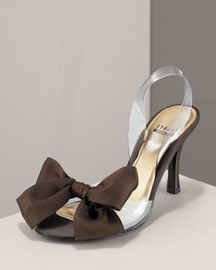 Stuart Weitzman Satin Bow Slingback -  Shoes -  Neiman Marcus :  designer clothes accessories womens shoes chloe