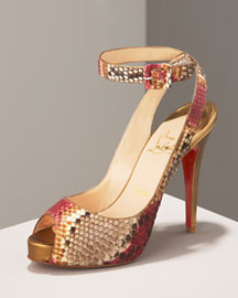 Christian Louboutin Privatita Python Sandal -  Shoes -  Neiman Marcus from neimanmarcus.com