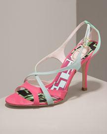 Emilio Pucci Crisscross Sandal
