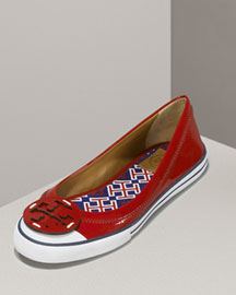 Tory Burch Channing Sport Flat -  Shoes -  Neiman Marcus :  designer clothes channing shoes yves saint laurent