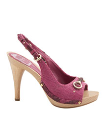 Dior Wooden Platform Sandal -  Spring Collection -  Neiman Marcus