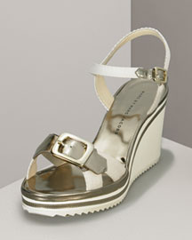MARC by Marc Jacobs Sporty Wedge Sandal -  Sandals -  Neiman Marcus :  strappy dior patent leather shoes