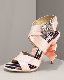 Christian Lacroix Satin Jewel Pump  -  Shoes -  Neiman Marcus