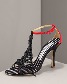 Christian Lacroix Beaded T-Strap Pump -  Shoes -  Neiman Marcus :  beaded strap shoes christian