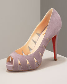 Christian Louboutin Suede Cutout Pump -  Accessories -  Neiman Marcus