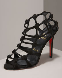 Christian Louboutin Button-Web Strappy Sandal -  Christian Louboutin -  Neiman Marcus :  stiletto shoes yves saint laurent accessories