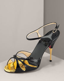 Christian Louboutin Patent Pump, Black- Christian Louboutin- Neiman Marcus :  elegant designs retro christian heels