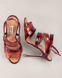 Manolo Blahnik Strappy Sandal -  Shoes -  Neiman Marcus :  arrivals heels dior patent leather