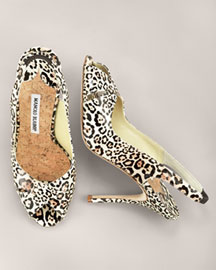 Manolo Blahnik Leather Slingback -  Accessories -  Neiman Marcus
