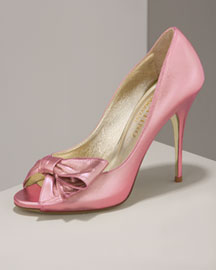 Valentino Peep-Toe Bow Pump -  Accessories -  Neiman Marcus from neimanmarcus.com