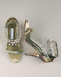 Manolo Blahnik Houristra Leopard-Print d'Orsay- Manolo Blahnik- Neiman Marcus :  manolo designer heels shoes