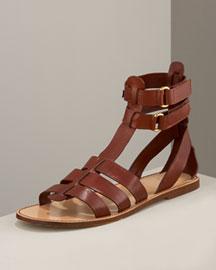 D&g Dolce & Gabbana Gladiator Flat Sandal