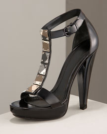 Burberry Check Tile Platform Sandals -  Burberry -  Neiman Marcus