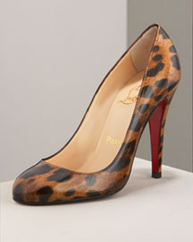 Leopard-Print Patent Pump -  Christian Louboutin -  Neiman Marcus :  elegant designs new glamour stylish