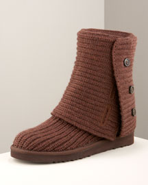 UGG Australia Crocheted Classic Boot- UGG Australia- Neiman Marcus :  boot brown knit ugg