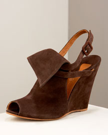 Chloe Wedge Ankle Boot -  Premier Designer -  Neiman Marcus :  luxury ankle shoes brown