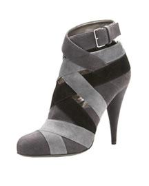 Miu Miu Strappy Bootie- Premier Designer- Neiman Marcus :  bootie shoes grey heel