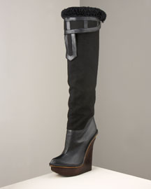 Stella McCartney Platform Boot -  Shoes & Handbags -  Neiman Marcus :  bootie brand clothing women clothes fall