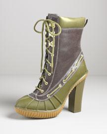 Kors Michael Kors Slicker Lace-Up Rubber Boot- Designer- Neiman Marcus from neimanmarcus.com