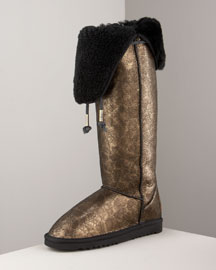 Australia Love Collective Metallic Boot -  Designer -  Neiman Marcus :  chic womens metallic womens shoes