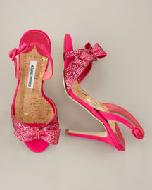 Manolo Blahnik - Jeweled Slingback Sandal Spring Collection from neimanmarcus.com