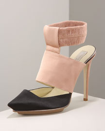 Two-Tone Pump -  Neiman Marcus :  platform rose two tone ros