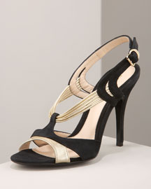 Corded Sandal -  Neiman Marcus :  sandal suede leather fendi