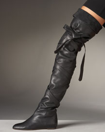 Fall/Winter Boots Trends: Chloe Tied Leather OTK Boot