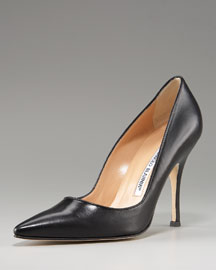 Manolo Blahnik Leather Pump -  Fall Collection -  Neiman Marcus